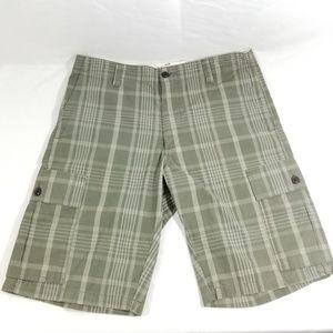 Men's Dockers Cargo Shorts size 33 Green Plaid